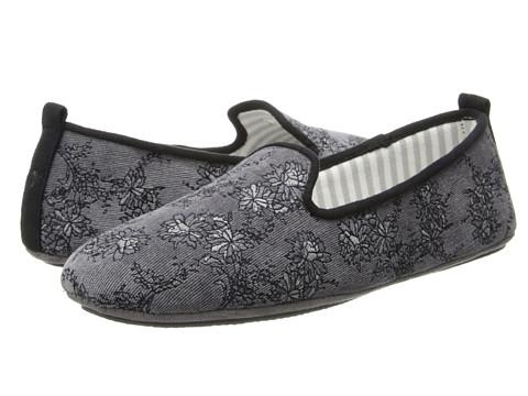 Acorn - Novella (Charcoal Flora) Women's Flat Shoes