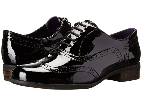 be60d377c4dbf ... UPC 887460337972 product image for Clarks Hamble Oak (Black Patent  Leather) Women's Lace up ...