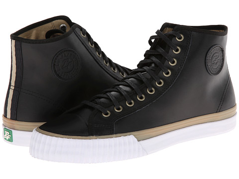PF Flyers - Center Hi Premium (Black Leather 2) Men's Shoes