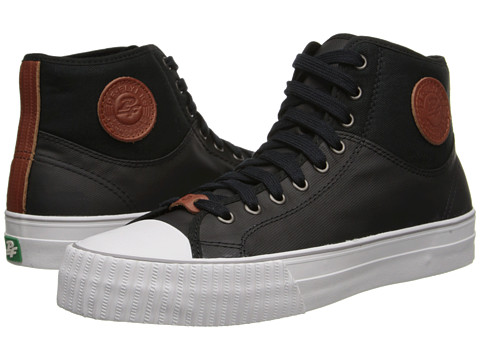 PF Flyers - Center Hi (Black Canvas/Coated Textile) Lace up casual Shoes