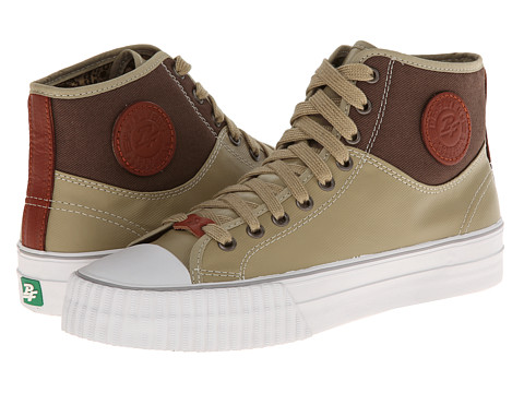 PF Flyers - Center Hi (Tan Canvas/Coated Textile) Lace up casual Shoes