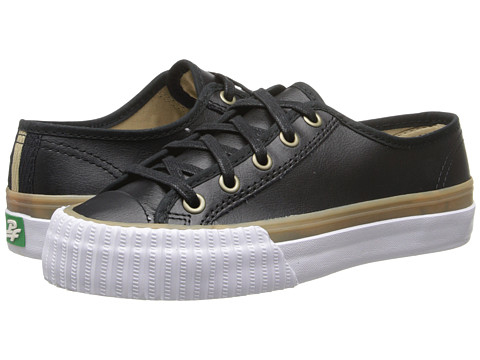 PF Flyers - Center Lo (Black Leather) Lace up casual Shoes