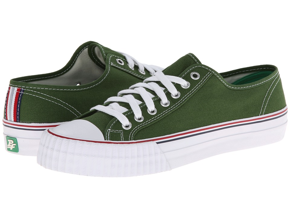 PF Flyers - Center Lo Re-Issue (Green Canvas) Lace up casual Shoes
