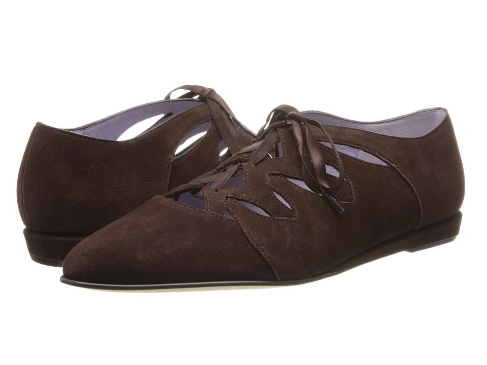 Johnston & Murphy - Jade Ghillie (Dark Chocolate Suede) Women's Shoes