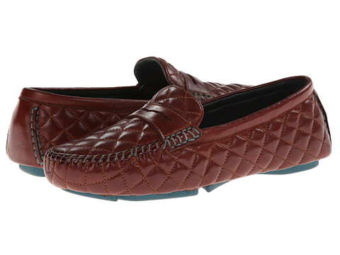 Johnston & Murphy - Claire Quilted Driver (Milk Chocolate Glove) Women's Slip on Shoes