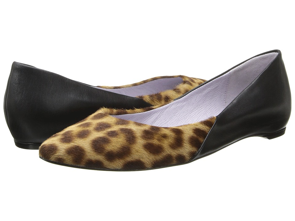 Johnston & Murphy - Tami Ballet (Leopard Haircalf/Black) Women's Slip on Shoes