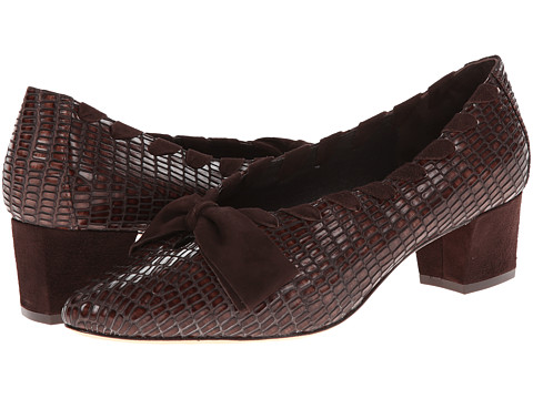 Johnston & Murphy - Brylee Bow Pump (Brown Iguana) High Heels