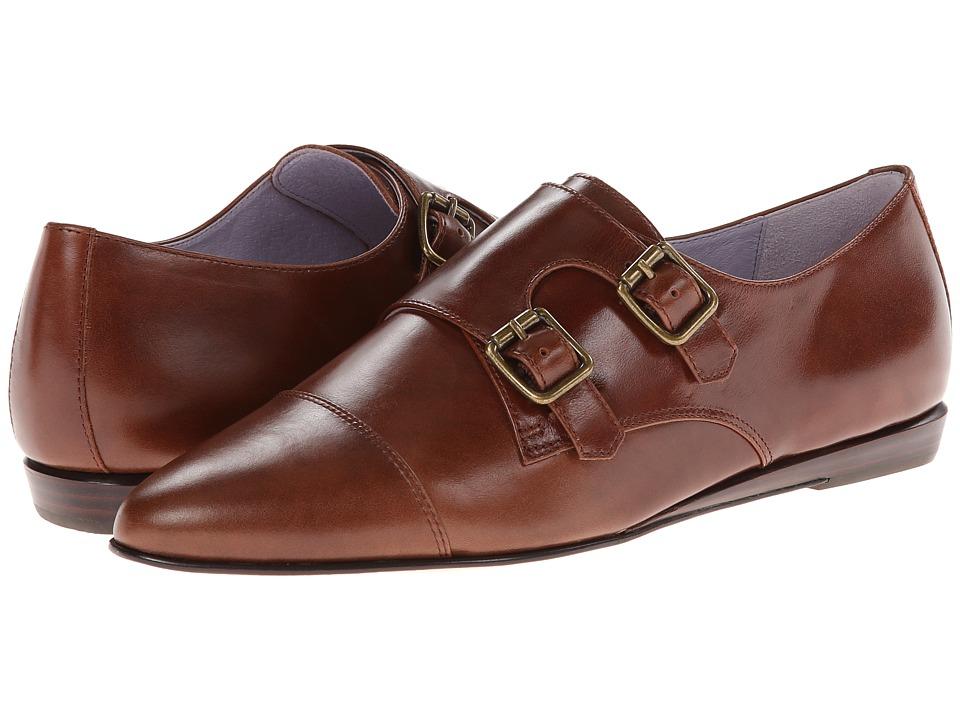 Johnston & Murphy - Jade Monk Strap (Saddle Tan Calf) Women's Monkstrap Shoes