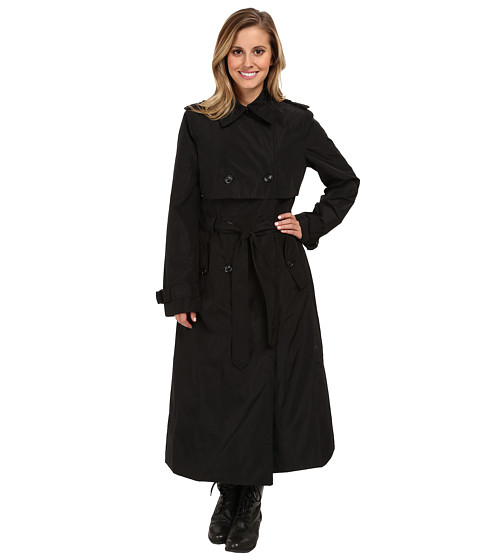 G.E.T. Maxi Trench (Black) Women's Coat