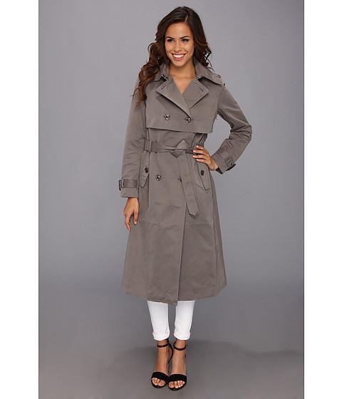 G.E.T. Maxi Trench Coat (Grey) Women's Coat