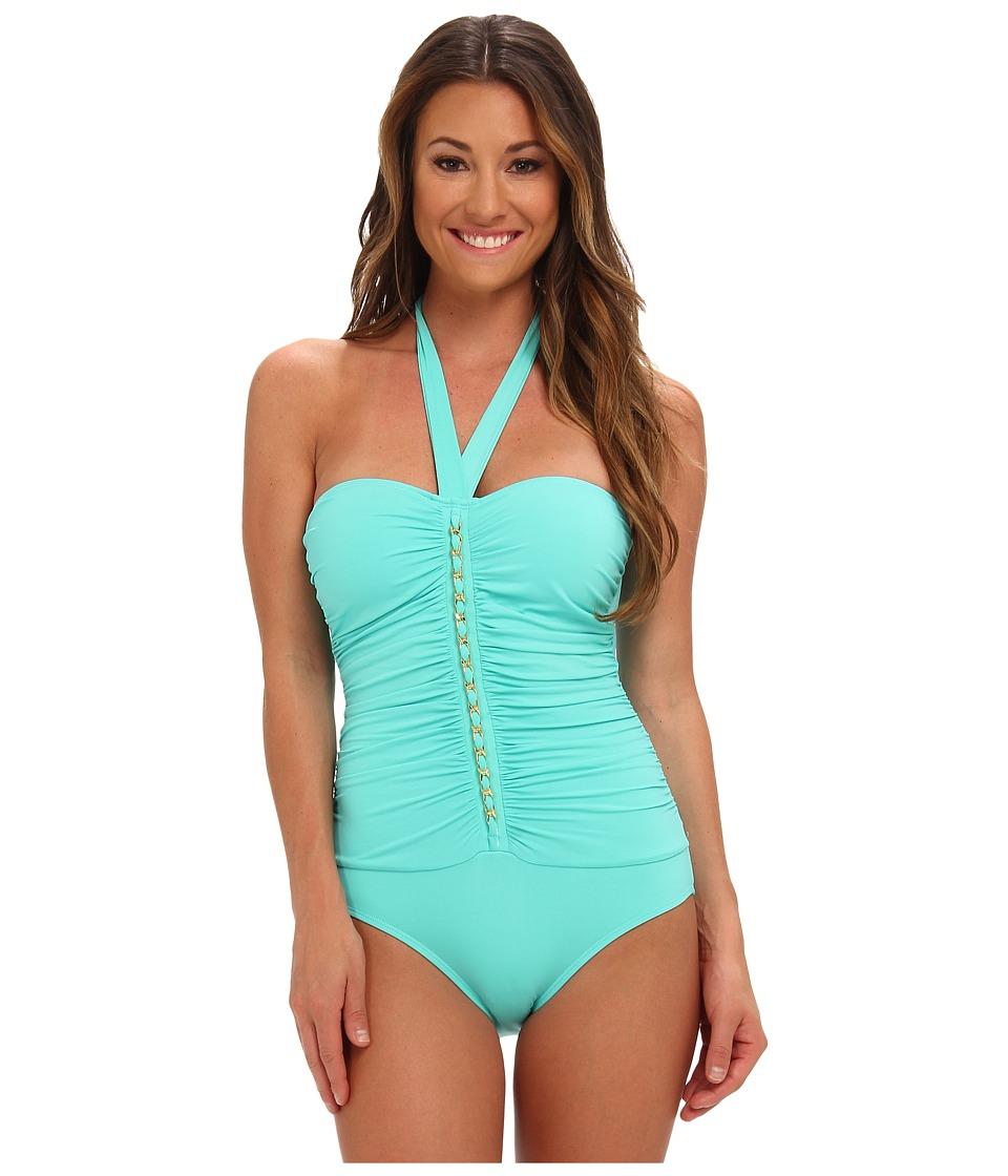 Bleu Rod Beattie - Pacific Coast Shirred Cup Mio One Piece (Sea Breeze) Women's Swimsuits One Piece