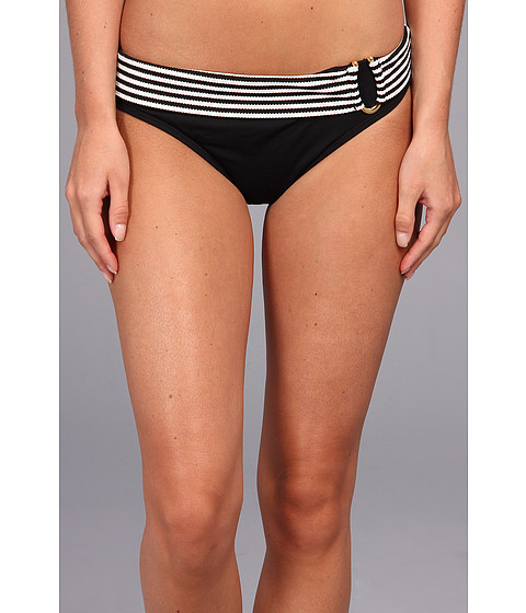 Bleu Rod Beattie - Shimmer Shine Banded Hipster Bottom (Black) Women's Swimwear