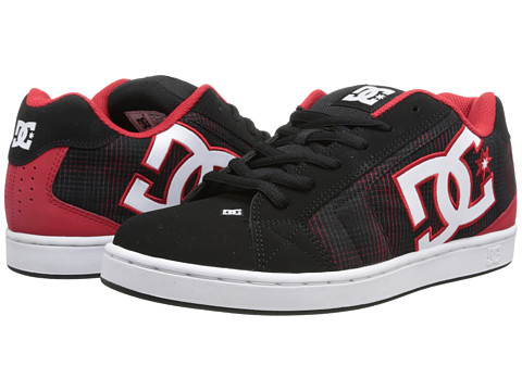 DC - Net SE (Black Plaid) Men's Skate Shoes
