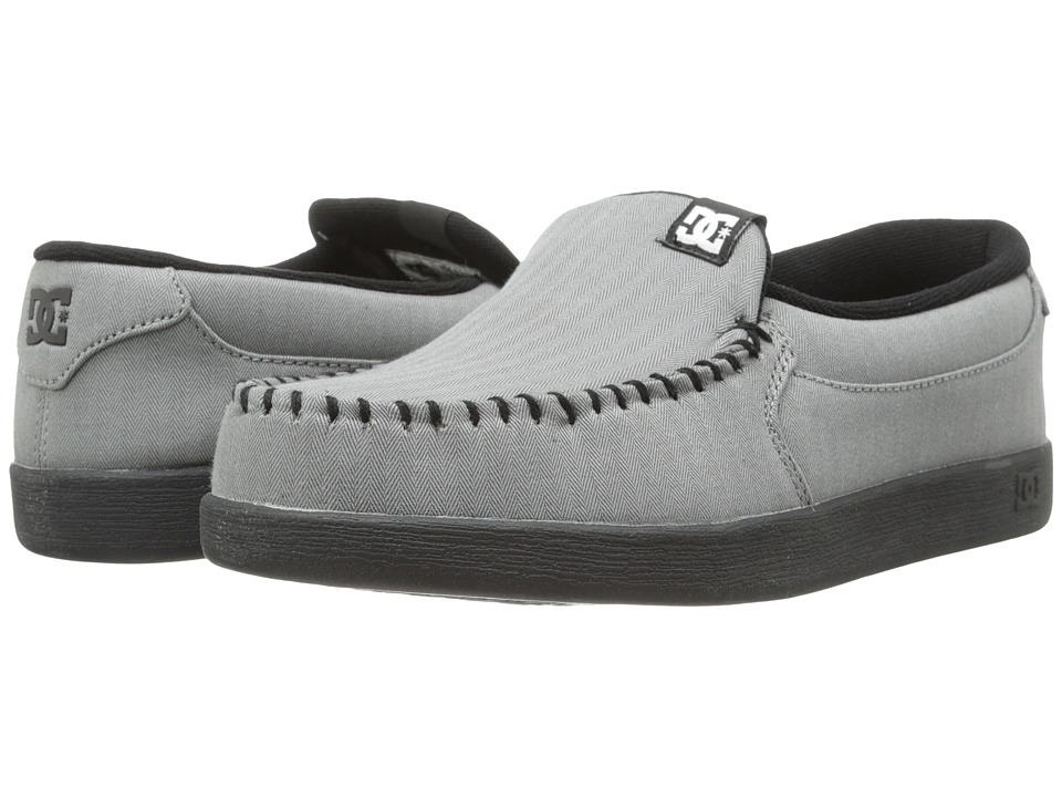 DC - Villain TX (Grey/Grey/Black) Men's Skate Shoes