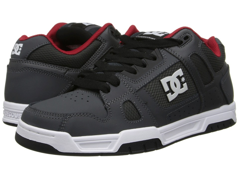DC - Stag (Grey/Red) Men's Skate Shoes