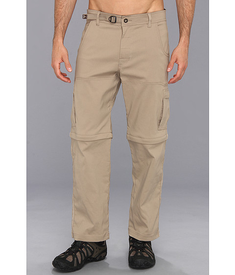 Prana - Stretch Zion Convertible Pant (Dark Khaki) Men