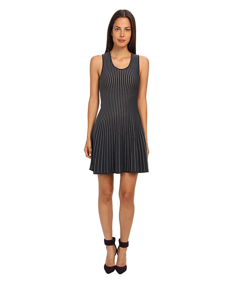 M Missoni - Bi Color Scallop Dress (Graphite) Women