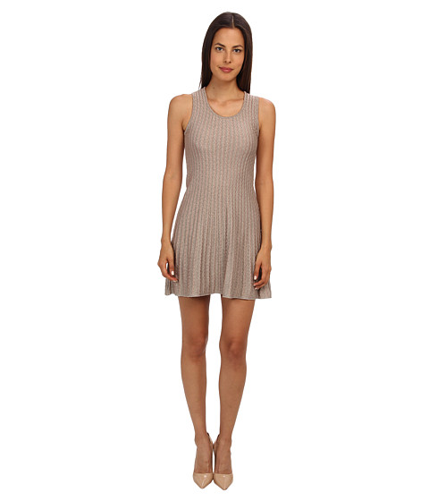 M Missoni - Lurex Scallop Knit Dress (Platinum) Women