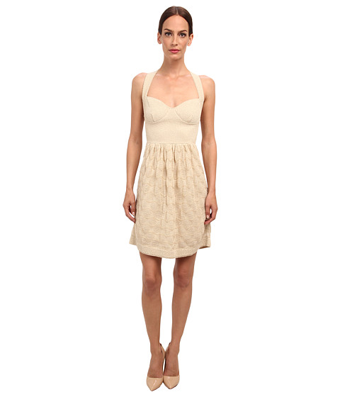 M Missoni - Lurex Bubble Stitch Dress (Ivory) Women