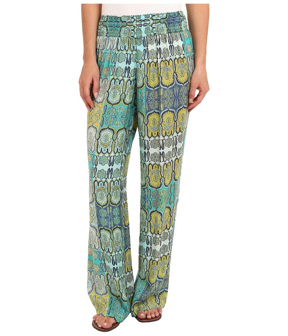 Tommy Bahama - Castello Paisley Smocked Pant (Light Caribbean Tile) Women's Casual Pants