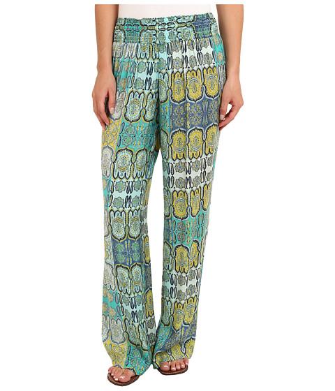 Tommy Bahama - Castello Paisley Smocked Pant (Light Caribbean Tile) Women