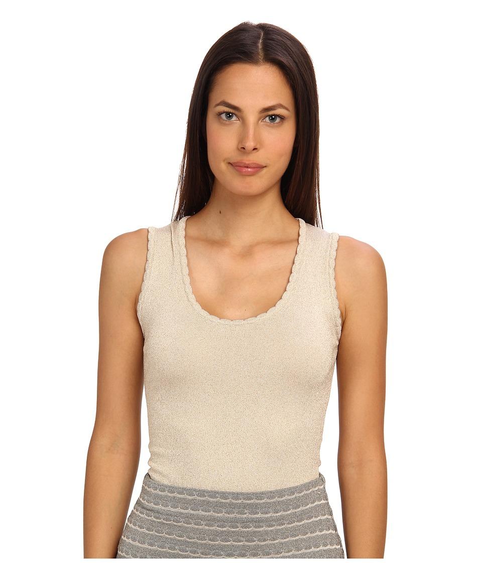 M Missoni - Lurex Scallop Knit Tank (Ivory) Women