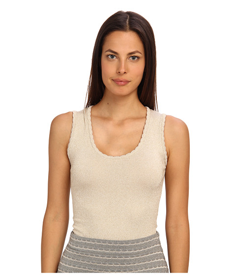 M Missoni - Lurex Scallop Knit Tank (Ivory) Women