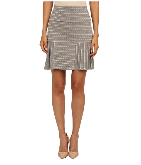 M Missoni - Lurex Scallop Knit Skirt (Grey) Women