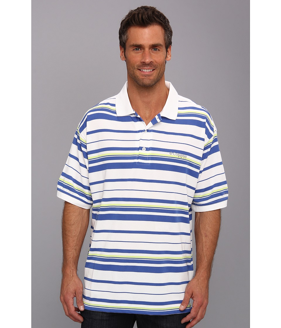 Columbia - Super Cast S/S Polo (Vivid Blue) Men's Short Sleeve Pullover