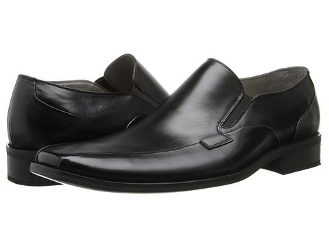 Steve Madden - Kevlar (Black Leather) Men's Slip-on Dress Shoes