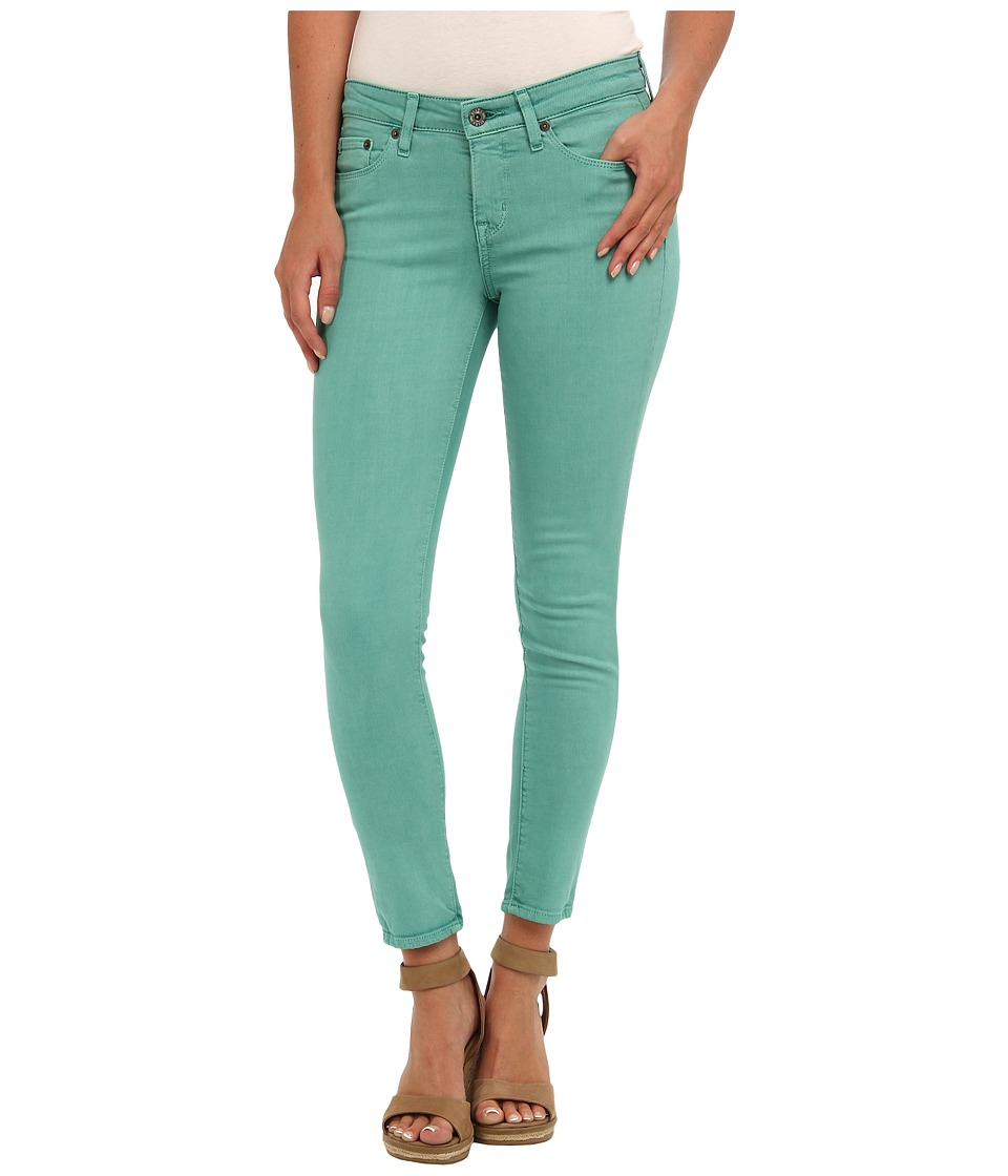 Big Star - Alex Mid Rise Skinny Crop in Aqua Marine (Aqua Marine) Women