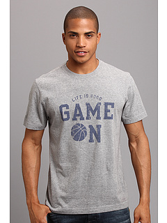 SALE! $14.99 - Save $11 on Life is good Game On Basketball Crusher S S Tee (Heather Gray) Apparel - 42.35% OFF $26.00
