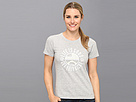 Life is good Get Your Kicks Crusher Tees (Light Heather Gray) Women's Short Sleeve Pullover