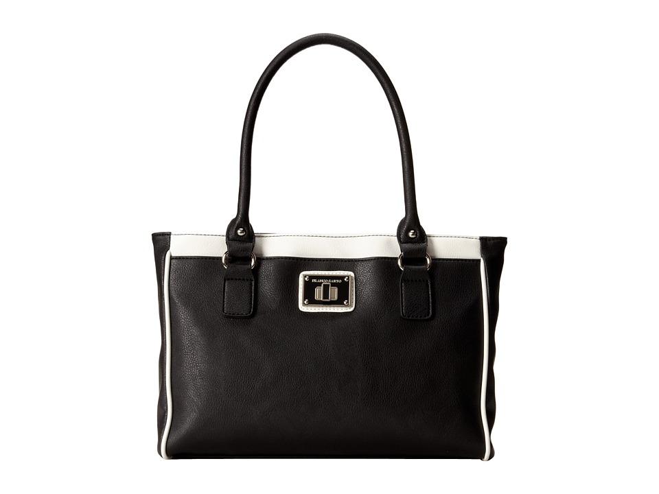 Franco Sarto - Sidney LG Tote (Black/White) Tote Handbags