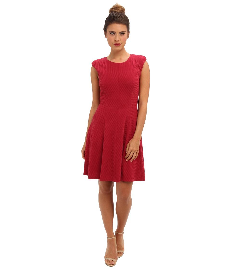 Rebecca Taylor - Sleeveless Text Ponte Dress (Rose) Women