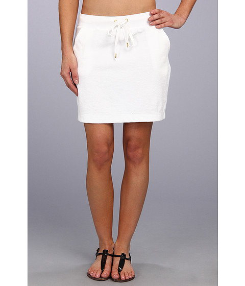 MICHAEL Michael Kors - Terry Cloth Short Skirt (White) Women's Skirt