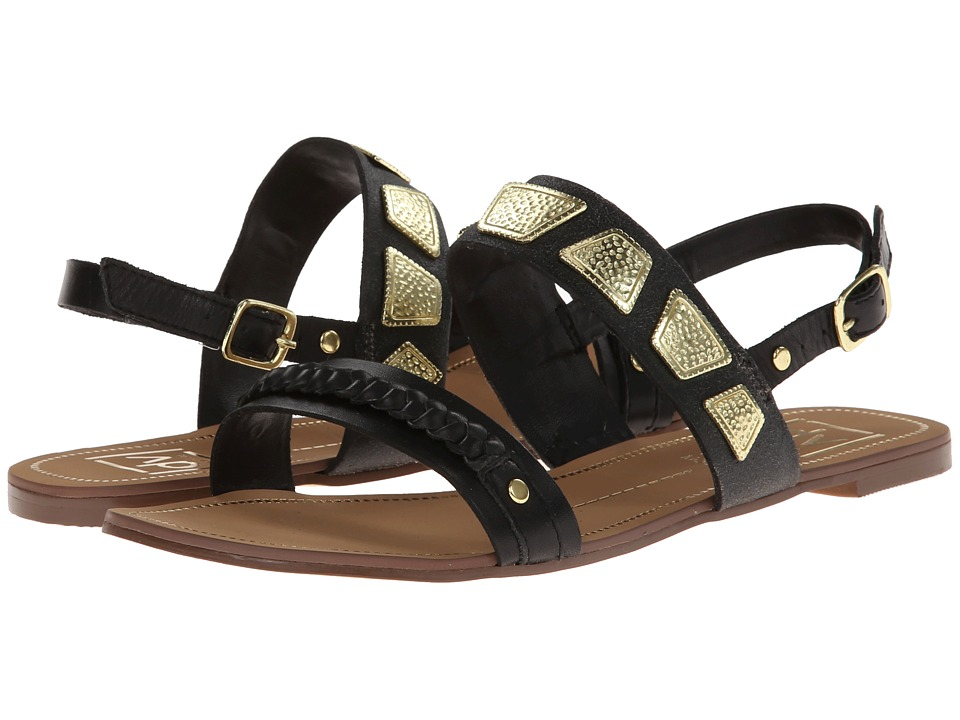 DV by Dolce Vita - Daliah (Black Crackled Leather) Women's Sandals