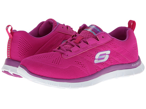 SKECHERS - Flex Appeal - Sweet Spot (Pink/Purple) Women's Lace up casual Shoes