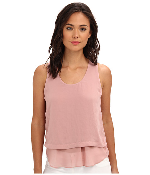 Rebecca Taylor - S/L Crepe Gauze Top (Lush) Women's Sleeveless