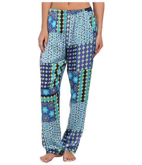 Josie - Nadia Printed Satin Pant (Blue Multi) Women