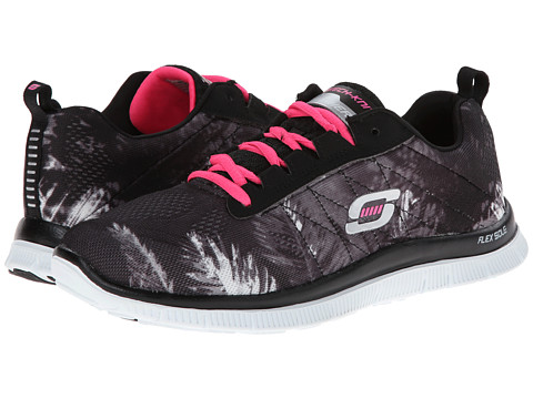 SKECHERS - Trade Winds (Black/Hot Pink) Women's Shoes