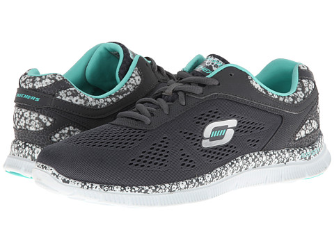 SKECHERS - Flex Appeal (Gray/White) Women