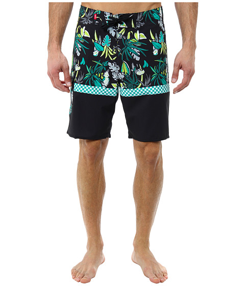 Vans - Off The Wall 20 Boardshort (Black/Apple) Men's Swimwear