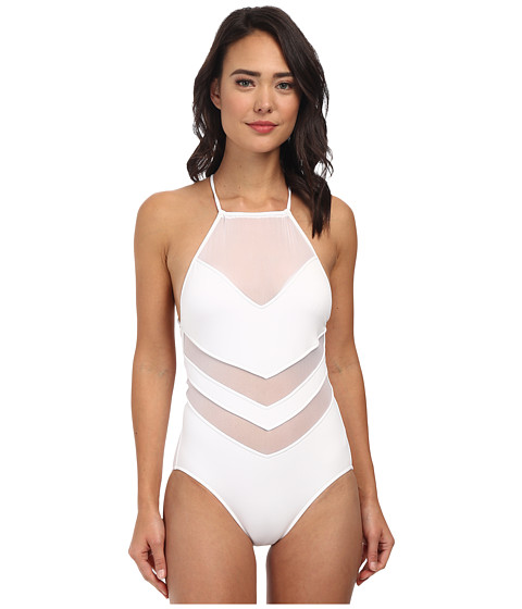 Seafolly - Goddess High Neck Maillot (White) Women