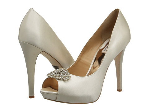 Badgley Mischka - Goodie (Ivory Satin) High Heels