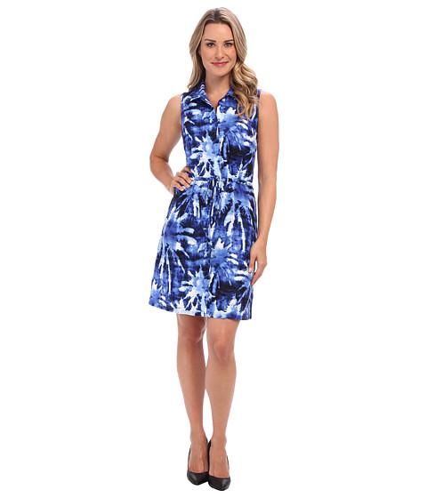 Tommy Bahama - Celeste Palm Sleeveless Short Dress (Cobalt/Cobalt/Academy) Women