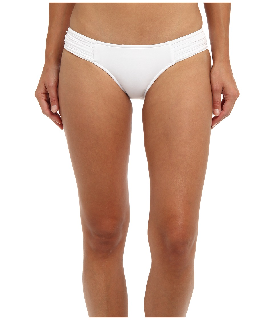 Seafolly - Pleated Hipster Pant (White) Women's Swimwear