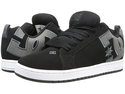 DC - Court Graffik SE (Black/Black/Grey) Men's Skate Shoes