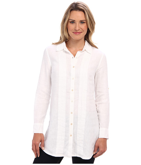 Tommy Bahama - Two Palms Pleat Front Shirt (White) Women