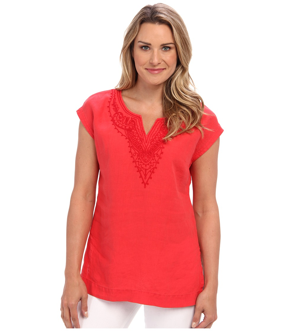 Tommy Bahama - Two Palms Embellished Cap-Sleeve Tunic (Windflower) Women's Short Sleeve Pullover